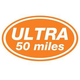 ULTRA 50 Miles Oval Running Vinyl Decal