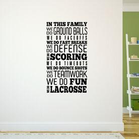 Lacrosse Removable ChalkTalkGraphix Wall Decal We Do Lacrosse