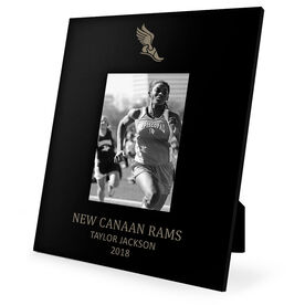 Track & Field Engraved Picture Frame - Icon With Winged Foot