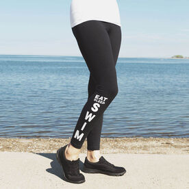 Swimming Leggings - Eat Sleep Swim