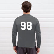 Hockey Long Sleeve Performance Tee - Dangle Snipe Celly Words