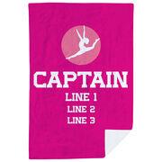 Gymnastics Premium Blanket - Personalized Captain