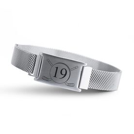 Hockey Adjustable Stainless Steel Magnetic Bracelet - Custom Number