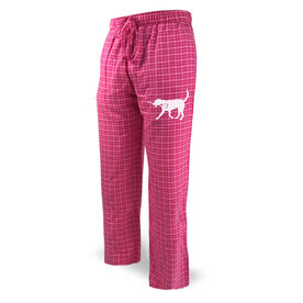 Girls Lacrosse Lounge Pants LuLa the Lax Dog