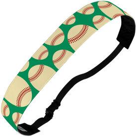 Baseball Julibands No-Slip Headbands - Tossed Ball Pattern