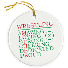 Wrestling Porcelain Ornament - Mother Words