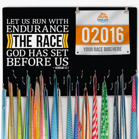 Running Large Hooked on Medals and Bib Hanger - Let Us Run