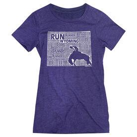 Women's Everyday Runners Tee Wyoming State Runner
