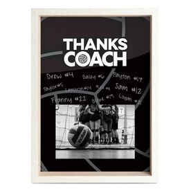 Volleyball Premier Wooden Frame - Thanks Coach