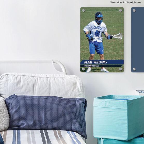 """Guys Lacrosse 18"""" X 12"""" Aluminum Room Sign - Classic Vertical Photo"""