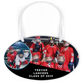 Hockey Oval Sign - Class Of Team and Player Photo