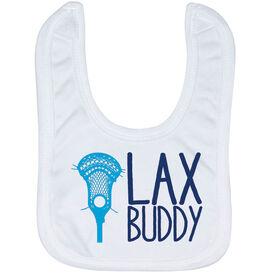 Guys Lacrosse Baby Bib - Lax Buddy