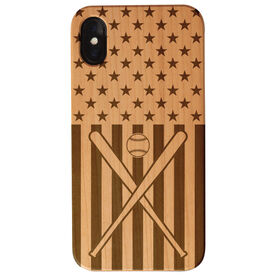 Baseball Engraved Wood IPhone® Case - USA Baseball