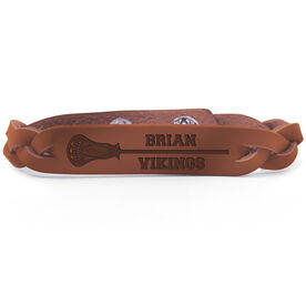 Guys Lacrosse Leather Engraved Bracelet Personalized