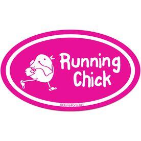Running Chick Car Magnet - Pink