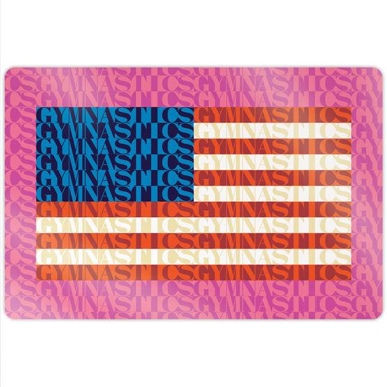 """Gymnastics 18"""" X 12"""" Aluminum Room Sign - American Flag Mosaic"""