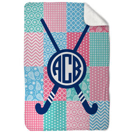 Field Hockey Sherpa Fleece Blanket - Field Hockey Quilt