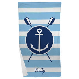 Crew Beach Towel Oars Anchor