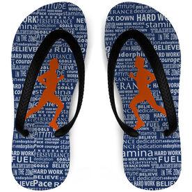 Running Flip Flops Inspiration Words Male