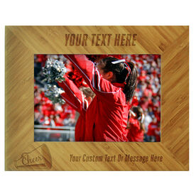 Cheerleading Bamboo Engraved Picture Frame Your Text