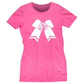 Cheerleading Women's Everyday Tee - Monogrammed Cheer Bow
