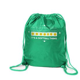 Softball Sport Pack Cinch Sack - 24-7 Softball