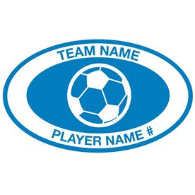 Personalized Soccer Vinyl Decal