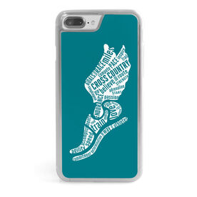 Cross Country iPhone® Case - Inspirational Words Winged Foot