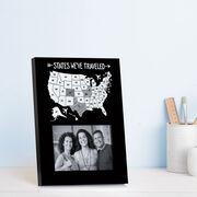 Photo Frame - States We've Traveled Outline