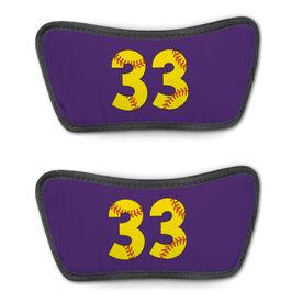 Softball Repwell™ Sandal Straps - Softball Number Stitches