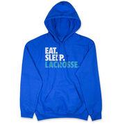 Lacrosse Hooded Sweatshirt - Eat. Sleep. Lacrosse.