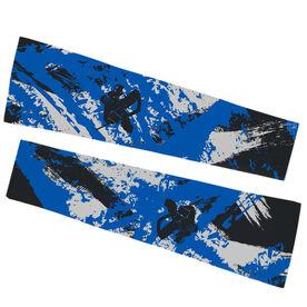 Hockey Printed Arm Sleeves - Hockey Grunge Silhouette Goalie