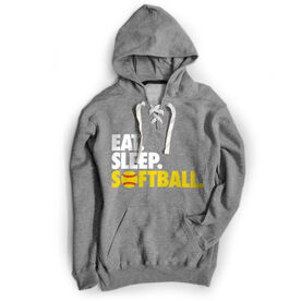 Softball Sport Lace Sweatshirt Eat. Sleep. Softball.