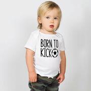 Soccer Baby T-Shirt - Born To Kick