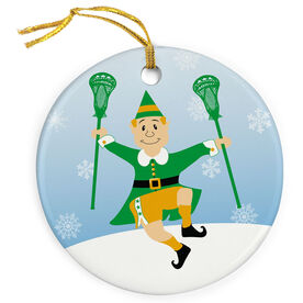 Guys Lacrosse Porcelain Ornament Laxing Is My Favorite (Male)