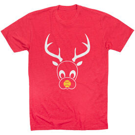 Softball Short Sleeve T-Shirt - Reindeer