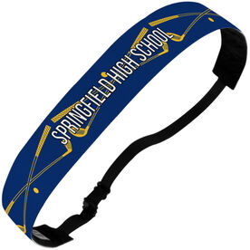 Golf Julibands No-Slip Headbands - Personalized Crossed Clubs Stripe Pattern