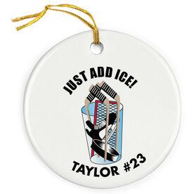 Hockey Porcelain Ornament Just Add Ice
