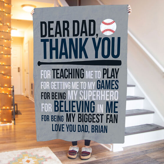 Baseball Premium Blanket - Dear Dad