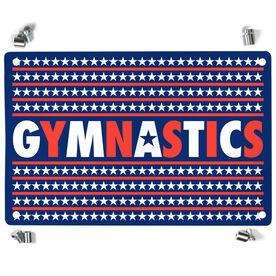 Gymnastics Metal Wall Art Panel - Patriotic Gymnastics