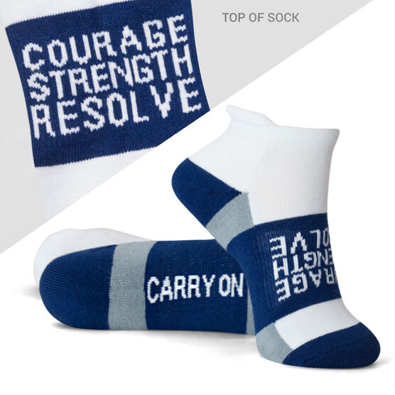 Socrates® Woven Performance Socks Courage Strength (Navy)