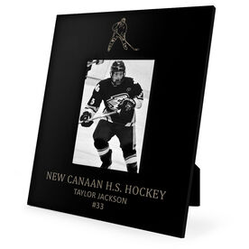 Hockey Engraved Picture Frame Player