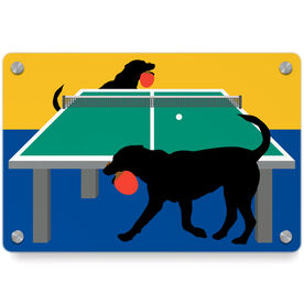 Ping Pong Metal Wall Art Panel - Pongo The Ping Pong Dog