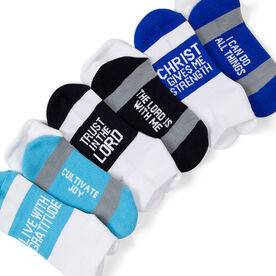 Socrates® Woven Performance Sock Set - Christ Gives Me Strength
