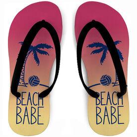Volleyball Flip Flops Beach Babe