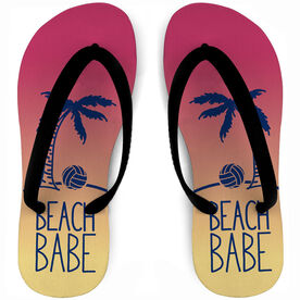 Volleyball Flip Flops Beach Babe