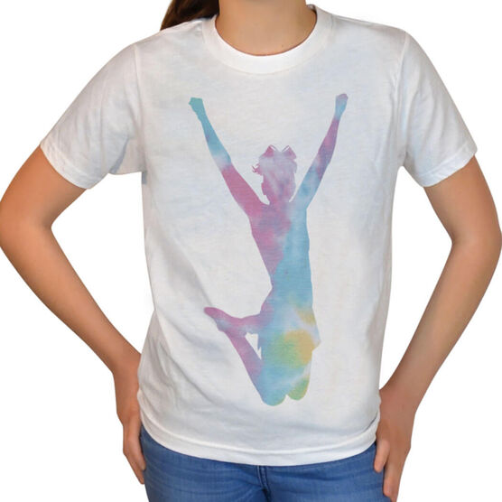 Vintage Cheerleading T-Shirt - Tie Dye Cheerleader
