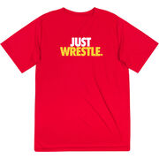 Wrestling Short Sleeve Performance Tee - Just Wrestle
