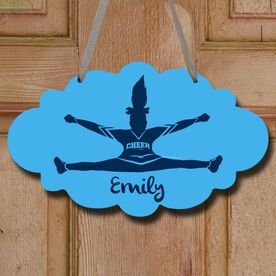 Cheerleading Cloud Sign Personalized Toe Touch Cheer Girl