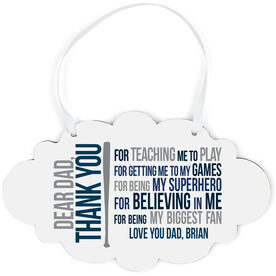 Baseball Cloud Sign - Dear Dad